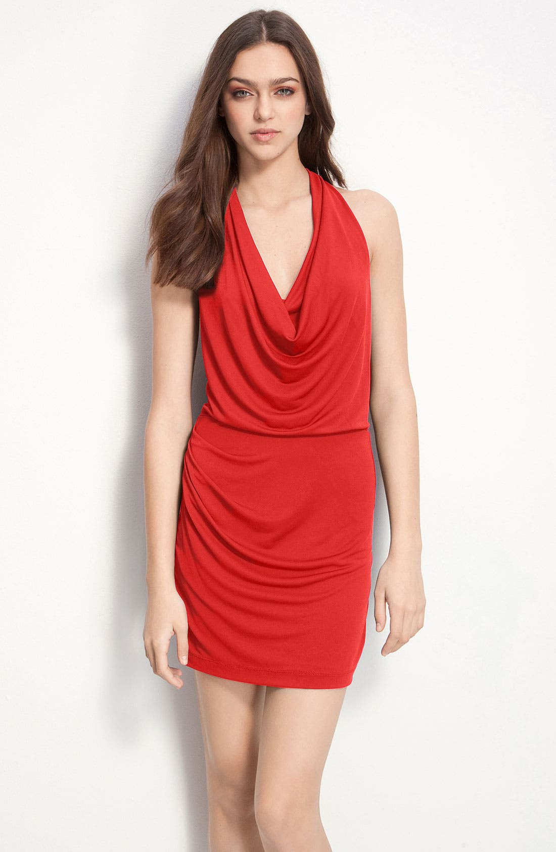 Main Image - BCBGMAXAZRIA Jersey Halter Dress
