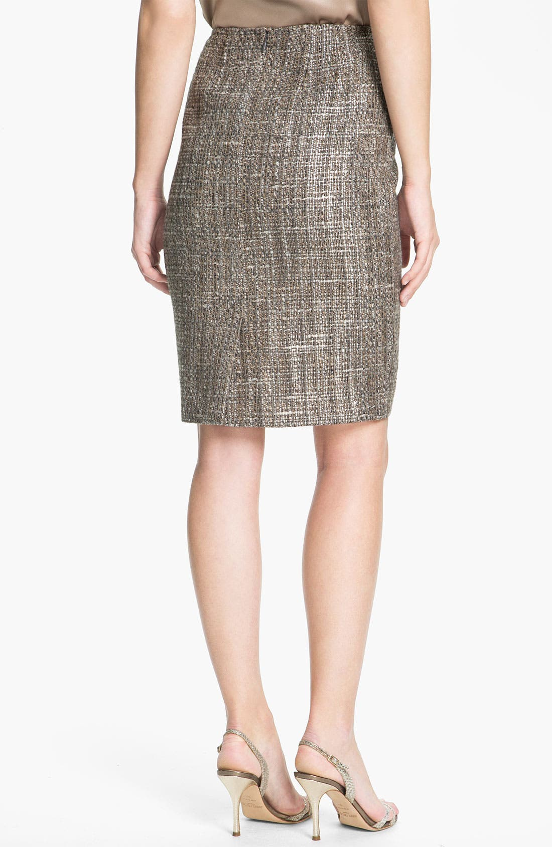 Alternate Image 3  - St. John Collection Metallic Space Dye Tweed Pencil Skirt