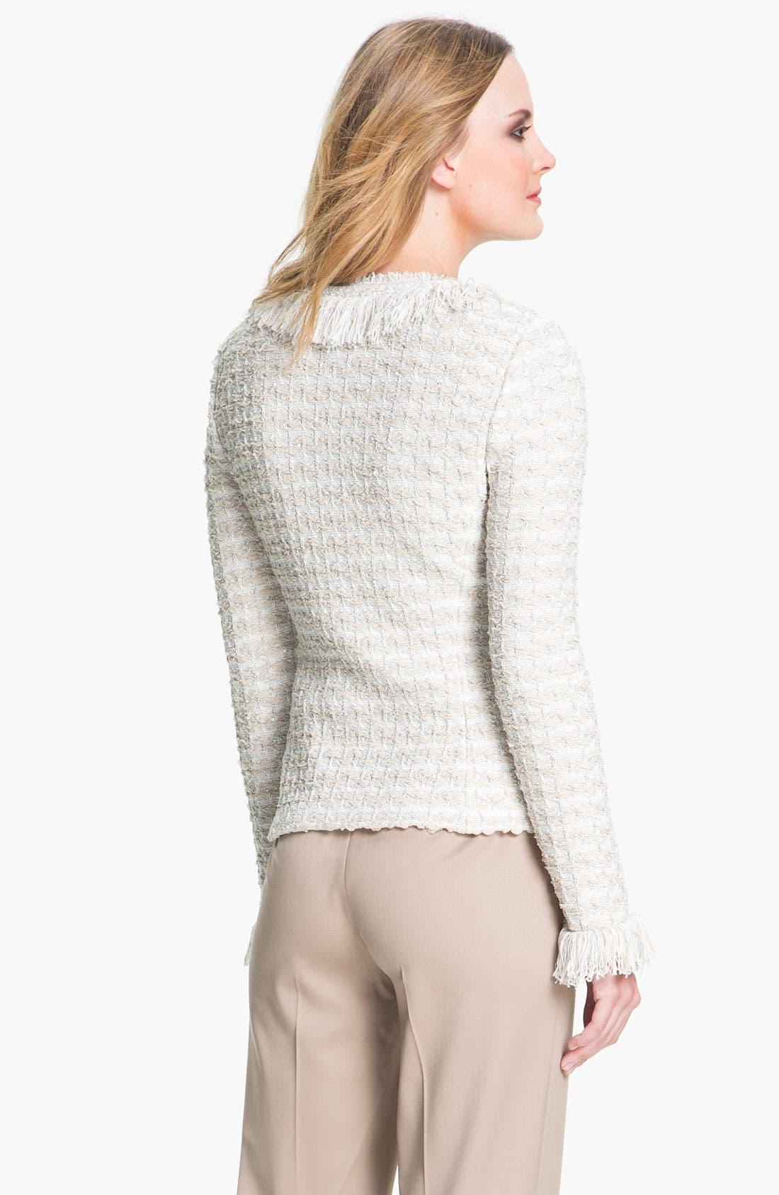 Alternate Image 3  - St. John Collection Shredded Trim Tweed Jacket