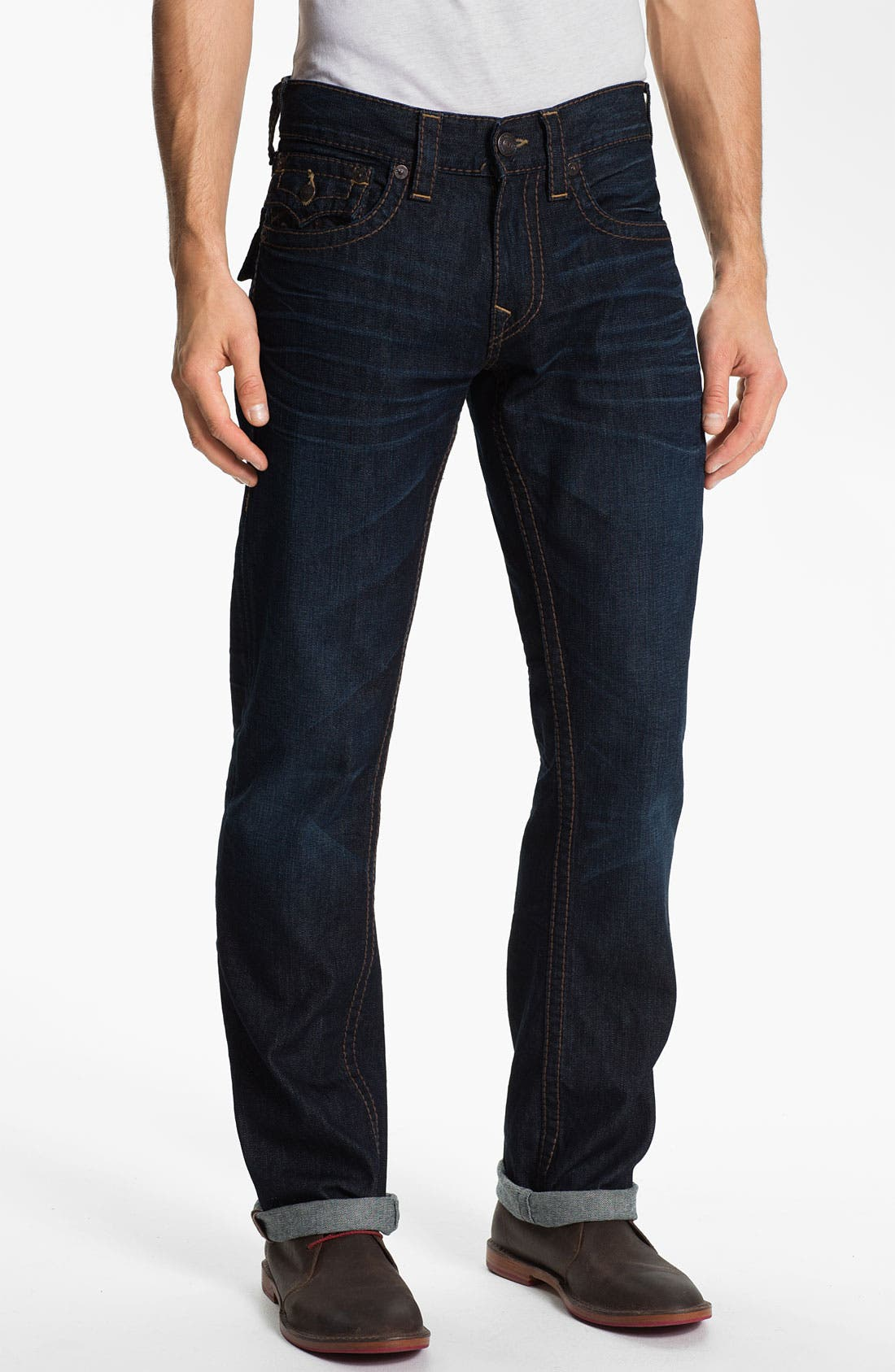 Alternate Image 2  - True Religion Brand Jeans 'Ricky' Straight Leg Jeans (Overland) (Online Exclusive)