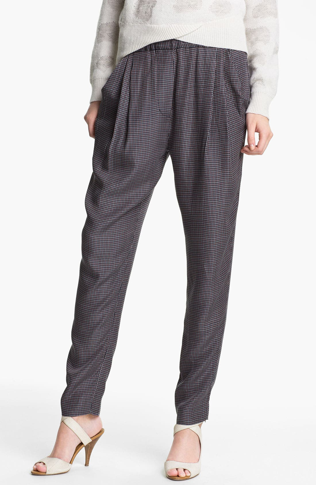 Alternate Image 1 Selected - 3.1 Phillip Lim Check Print Draped Trousers