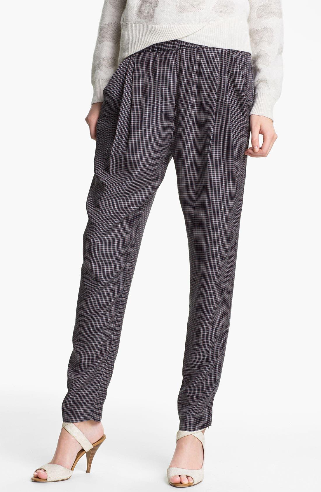 Main Image - 3.1 Phillip Lim Check Print Draped Trousers