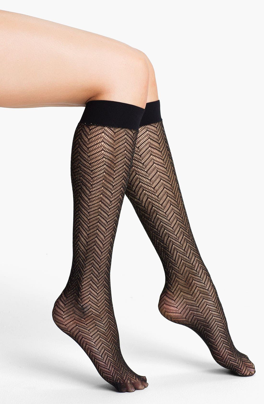 Alternate Image 1 Selected - Nordstrom 'Sparkle' Chevron Trouser Socks