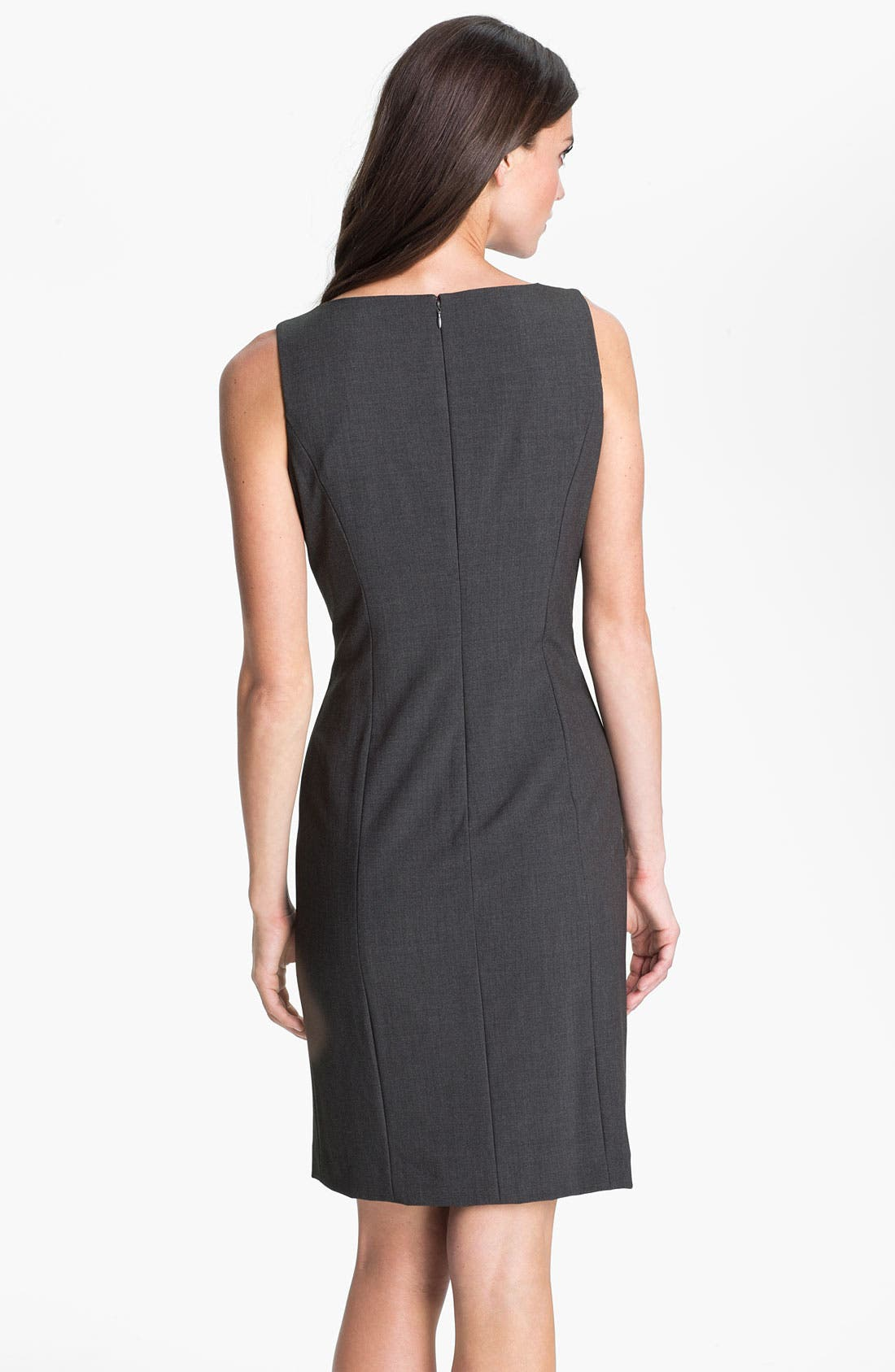 Alternate Image 2  - Calvin Klein Pleated Front Sheath Dress
