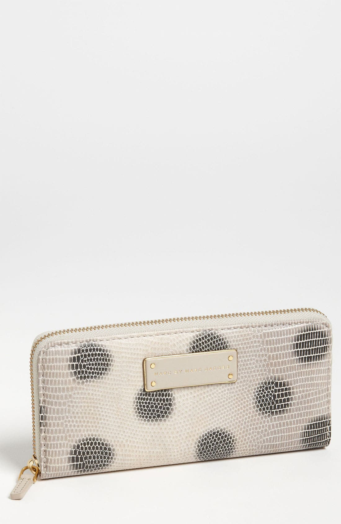Main Image - MARC BY MARC JACOBS 'Take Me - Lizzie Spot' Embossed Zip Around Wallet