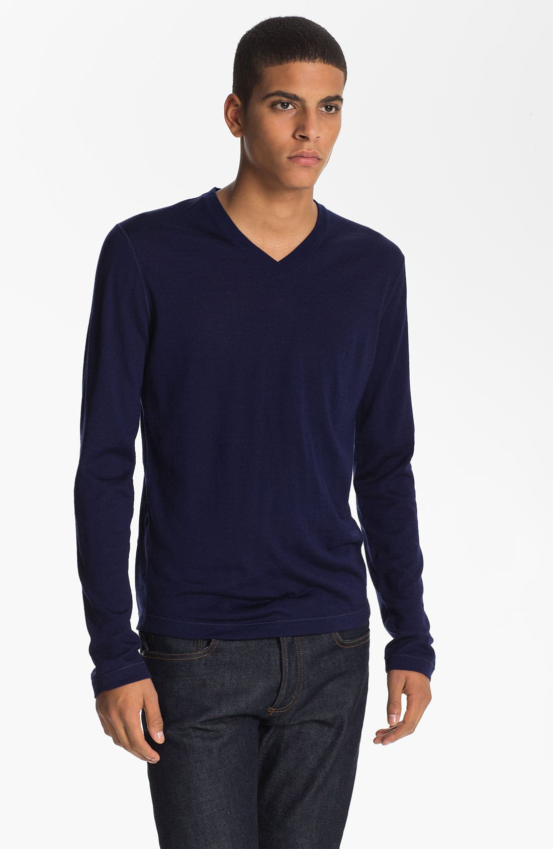 Alternate Image 1 Selected - Jil Sander V-Neck Wool Sweater
