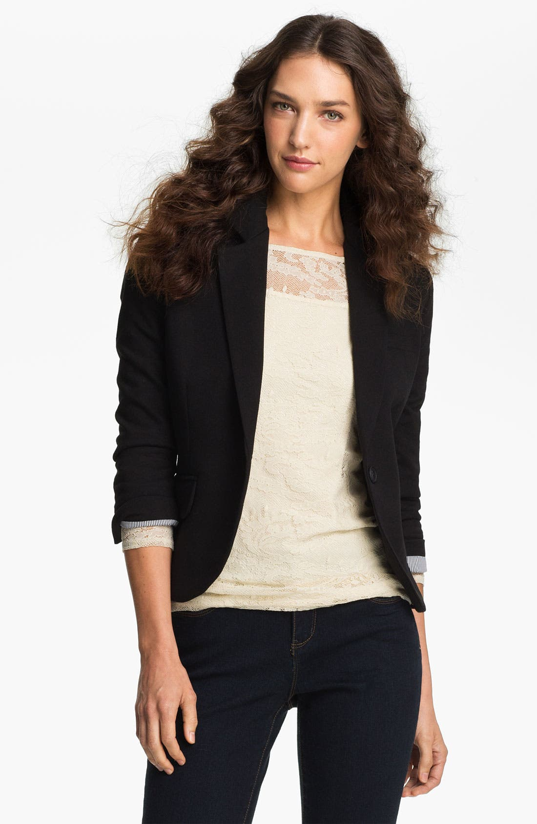 Alternate Image 1 Selected - Gibson Knit Blazer (Petite)