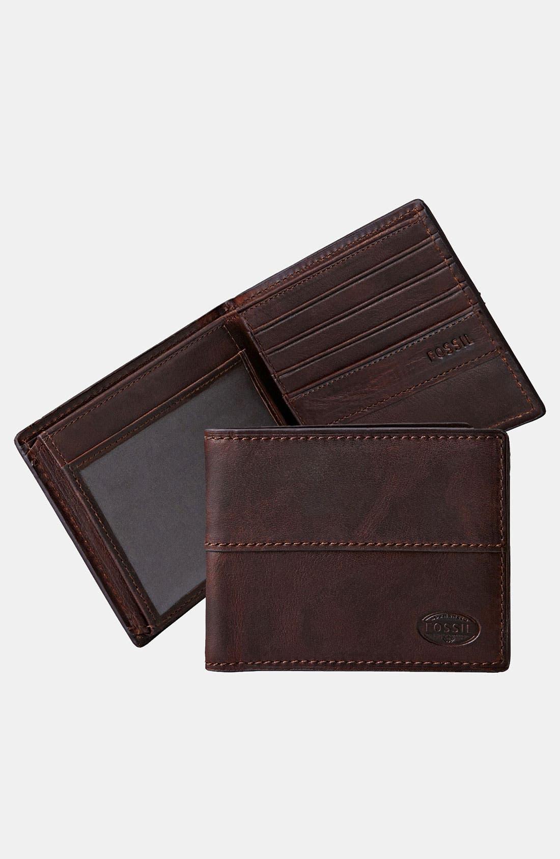 Main Image - Fossil 'Dillon' Traveler Wallet