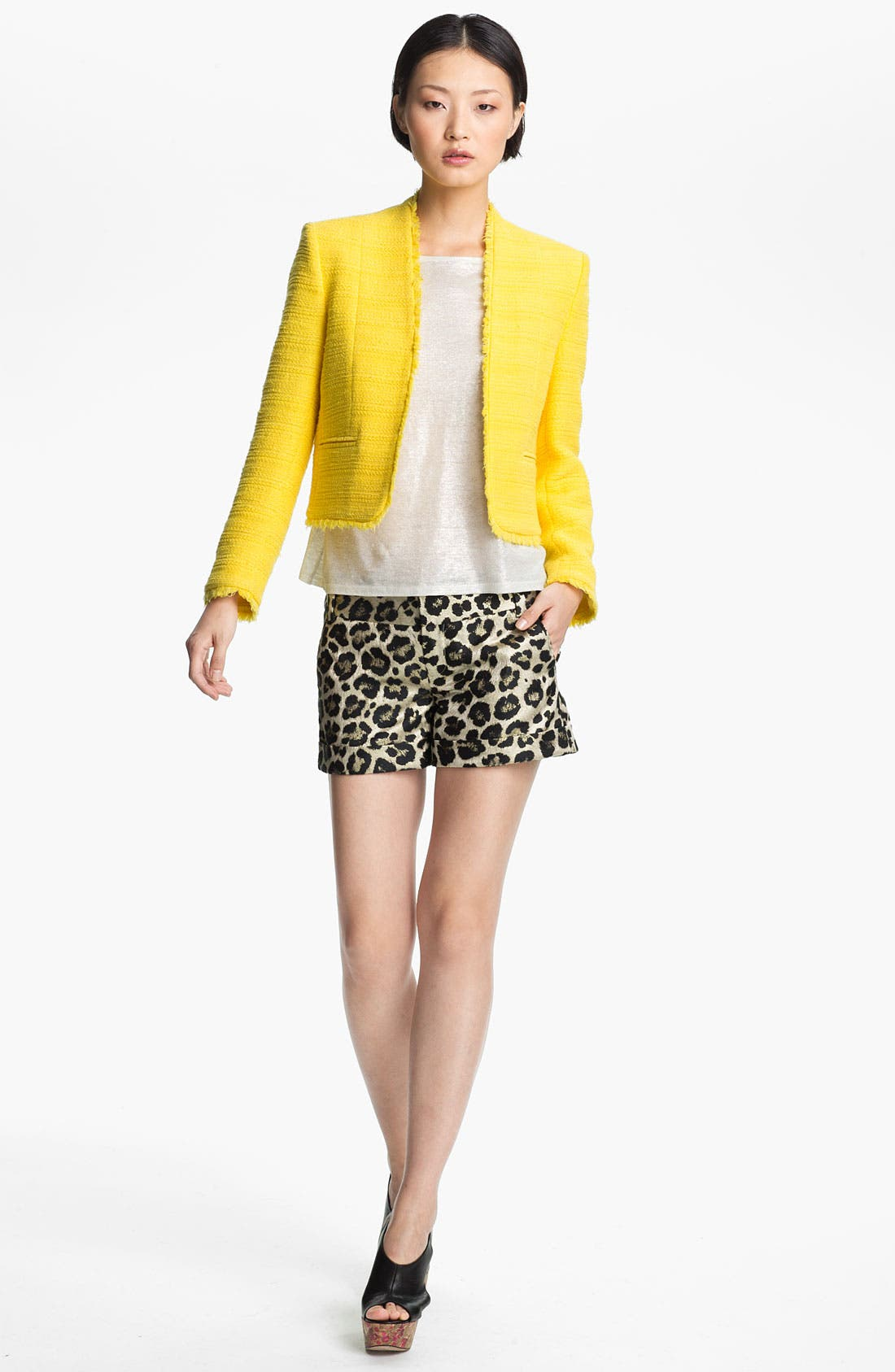 Main Image - Alice + Olivia 'Princeton' Tweed Jacket