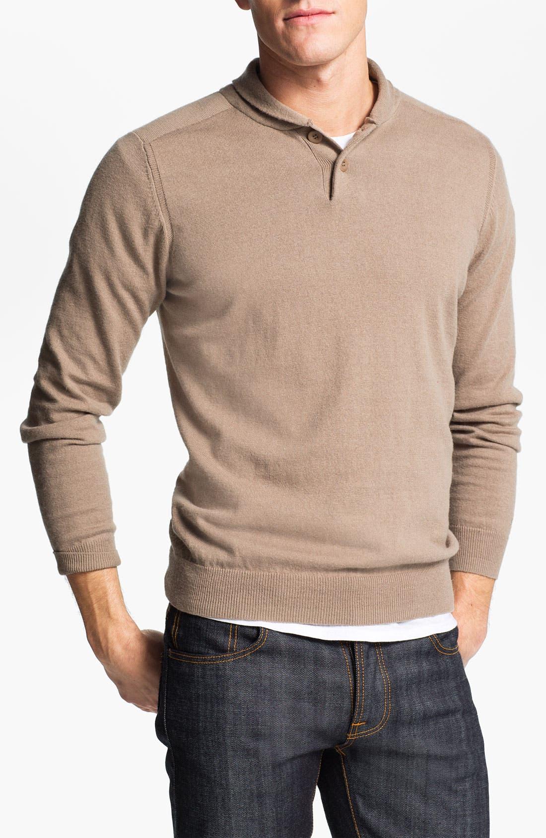Alternate Image 1 Selected - Ben Sherman Shawl Collar Sweater