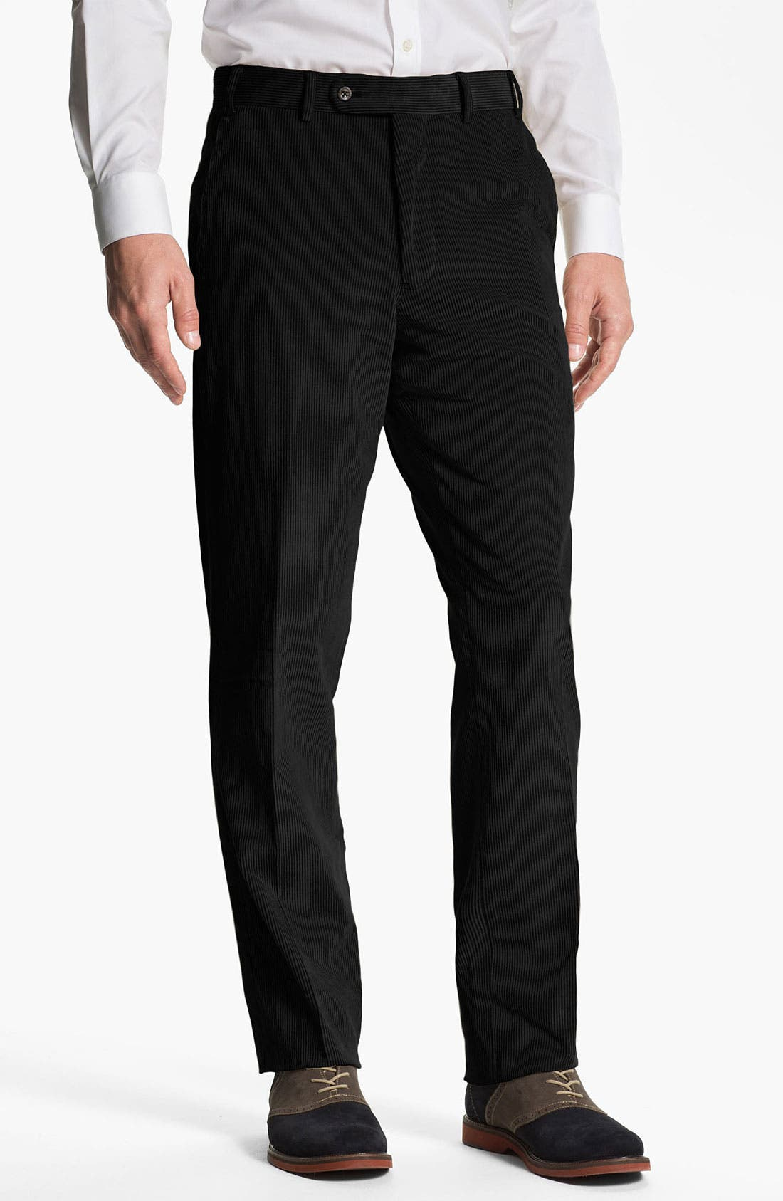 Alternate Image 1 Selected - JB Britches Flat Front Corduroy Trousers