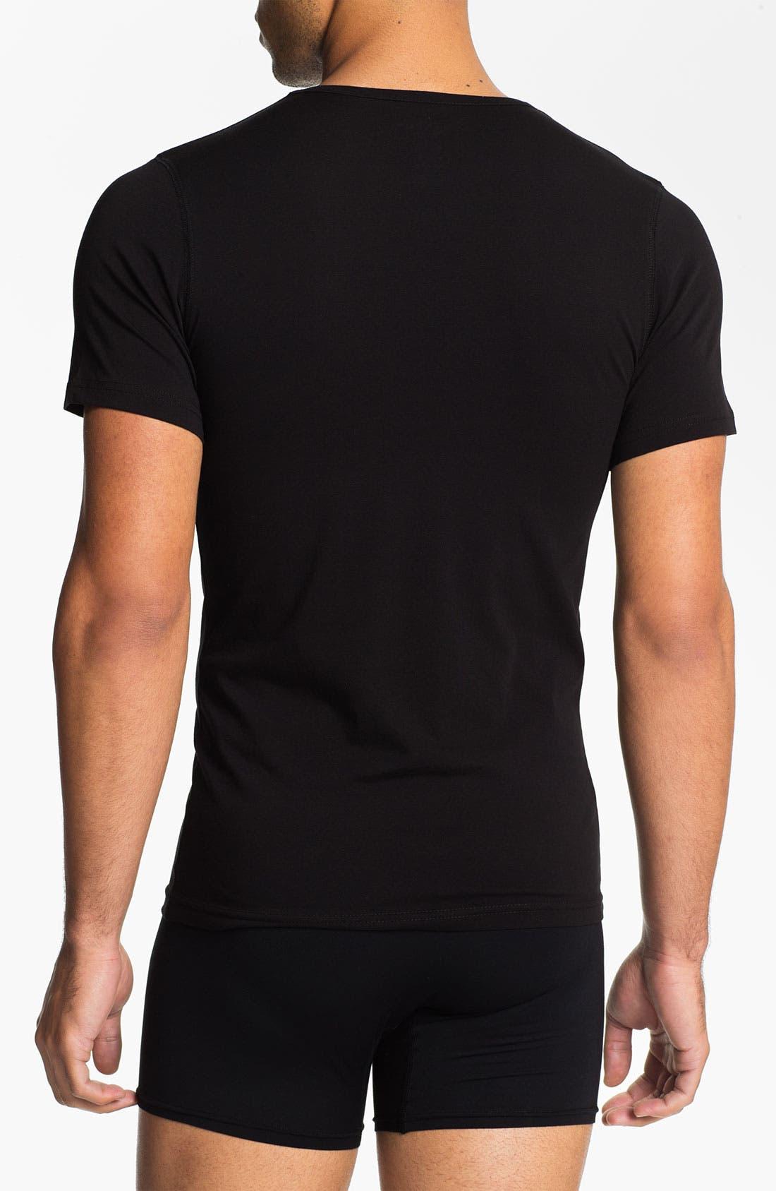 Alternate Image 2  - Naked Crewneck Cotton Undershirt