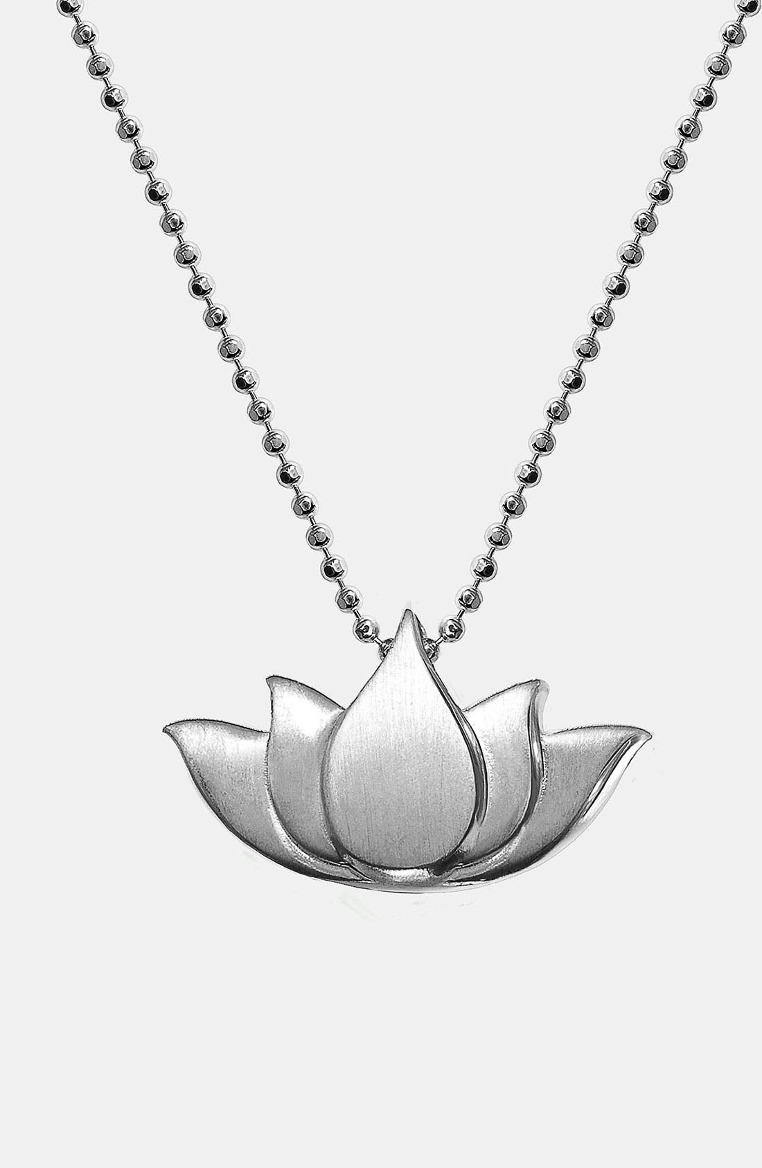 Alternate Image 1 Selected - Alex Woo 'Little Faith' Lotus Blossom Pendant Necklace