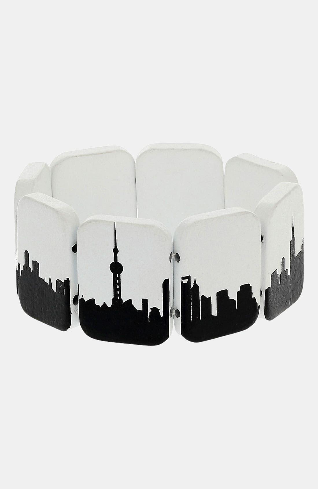 Alternate Image 1 Selected - Topman 'City Landscape' Stretch Bracelet
