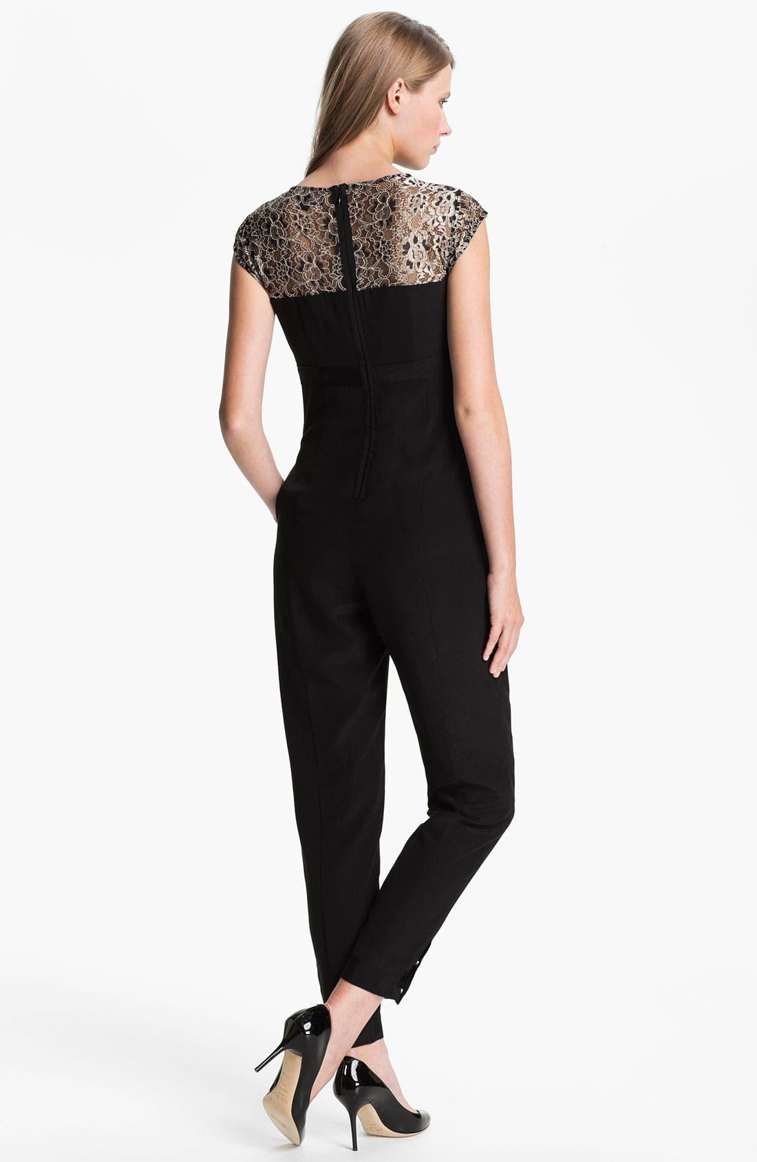 Alternate Image 2  - Ted Baker London Lace & Silk Jumpsuit