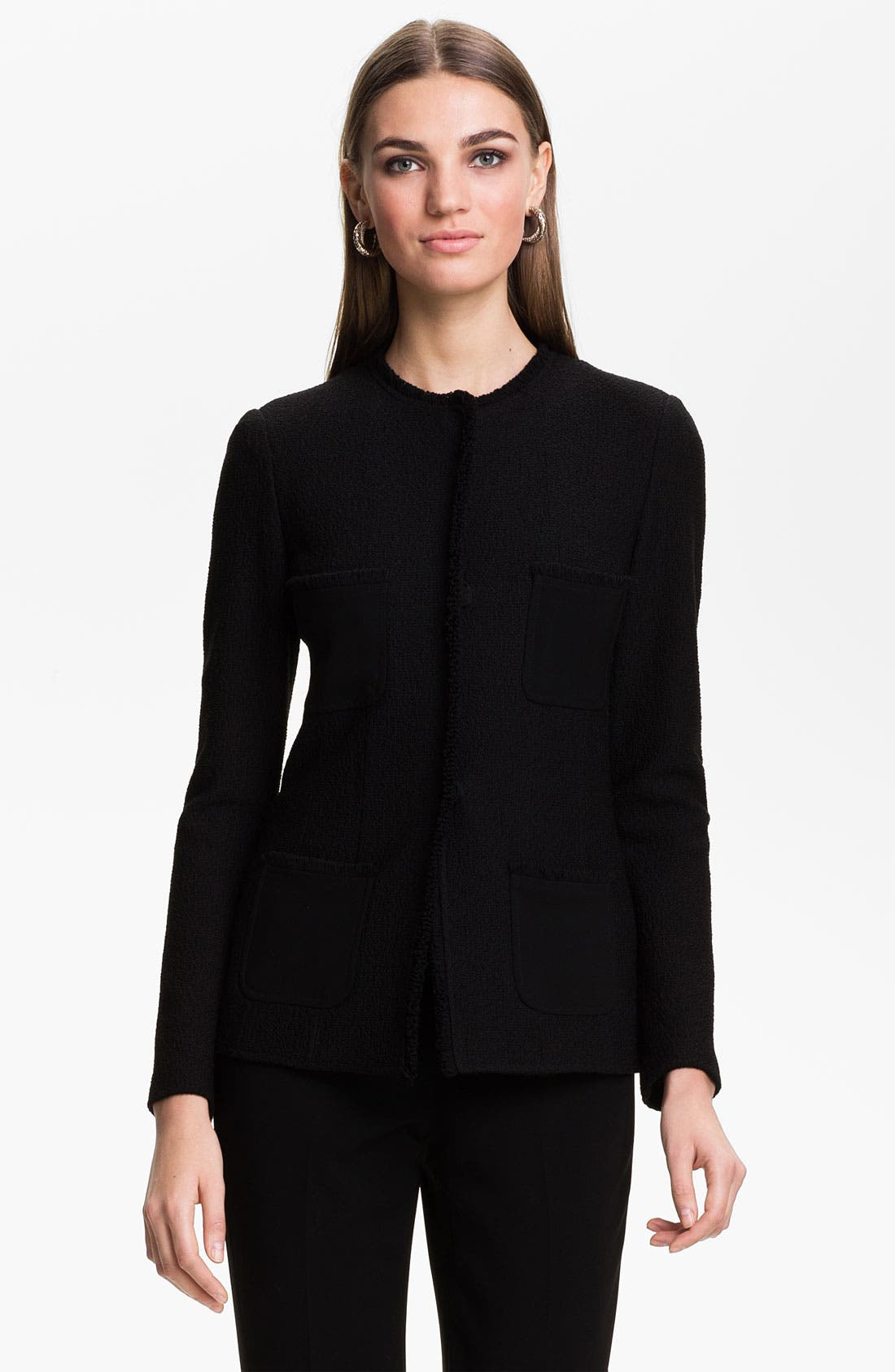 Main Image - St. John Collection Bouclé Knit Jacket