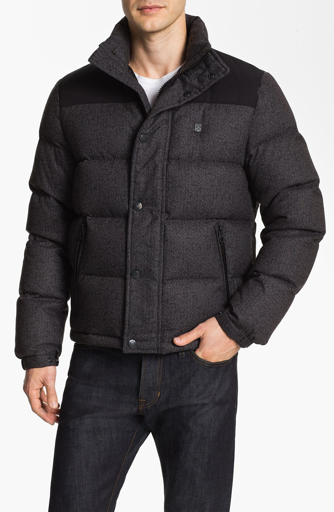 Alternate Image 1 Selected - Vince Camuto Quilted Down & Feather Puffer Jacket