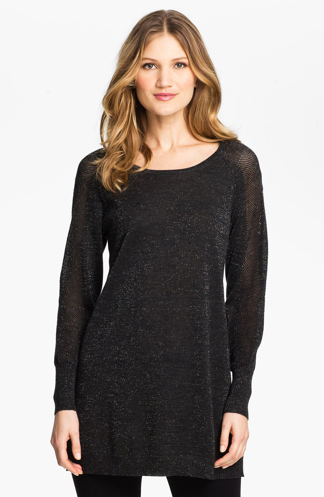 Alternate Image 1 Selected - Eileen Fisher Jewel Neck Tunic (Online Exclusive)