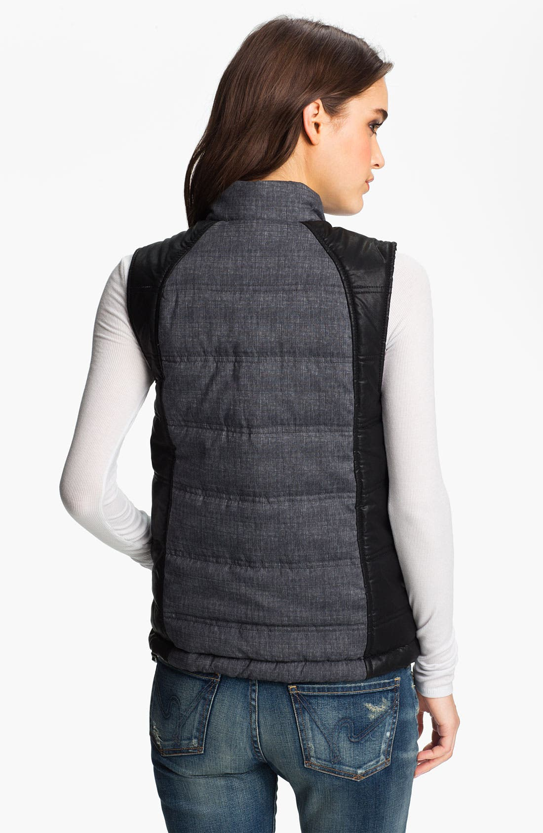 Alternate Image 2  - Trouvé Colorblock Plaid Puffy Vest