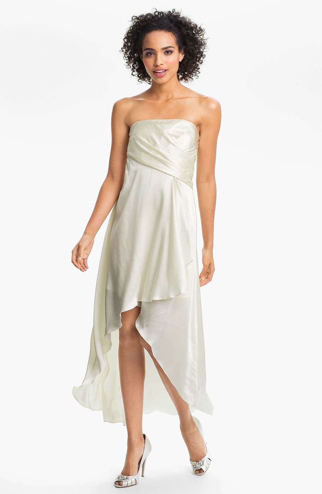 Main Image - Alexia Admor Strapless Silk Charmeuse Dress