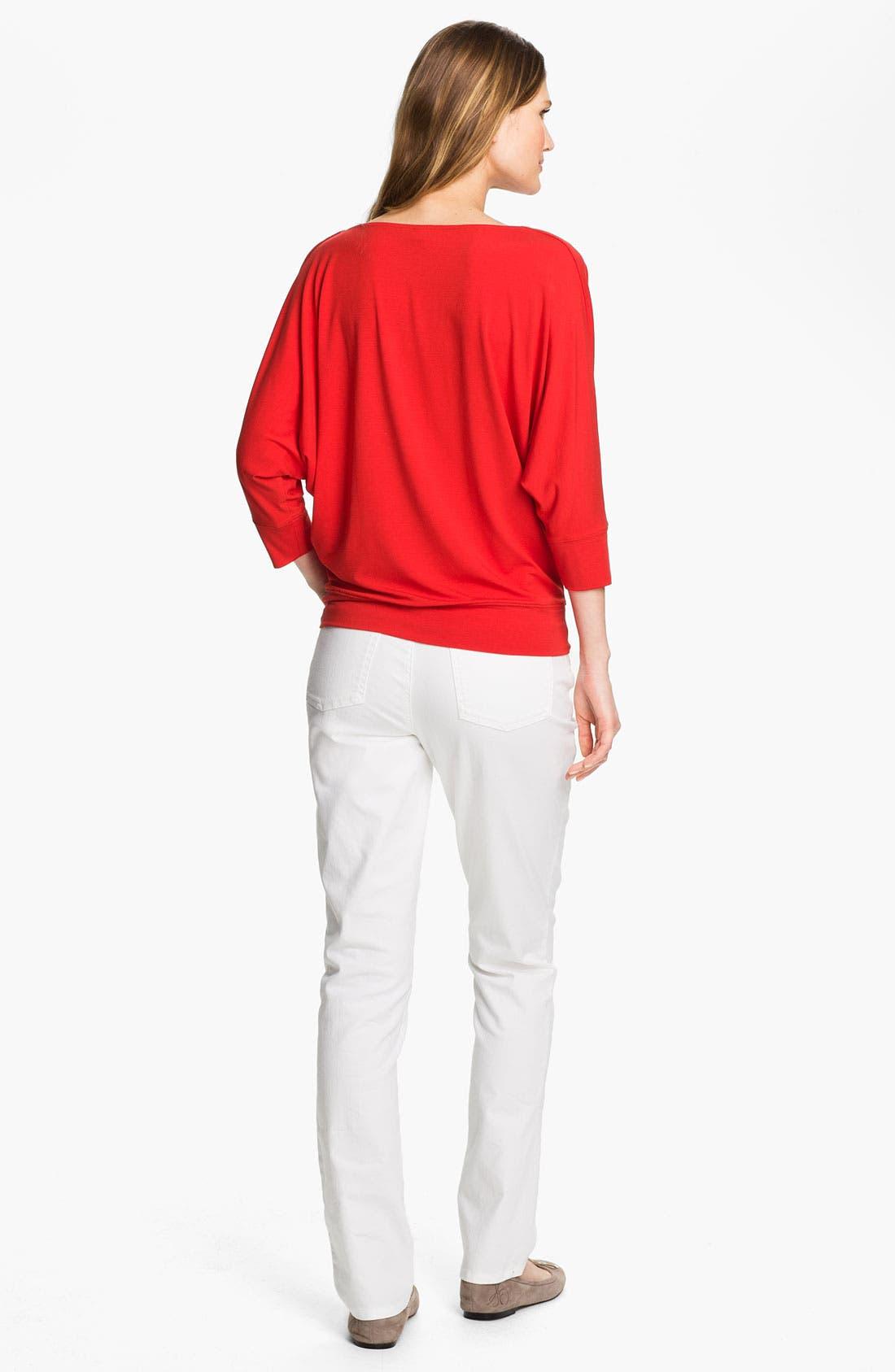 Alternate Image 3  - Eileen Fisher Drape Neck Jersey Top