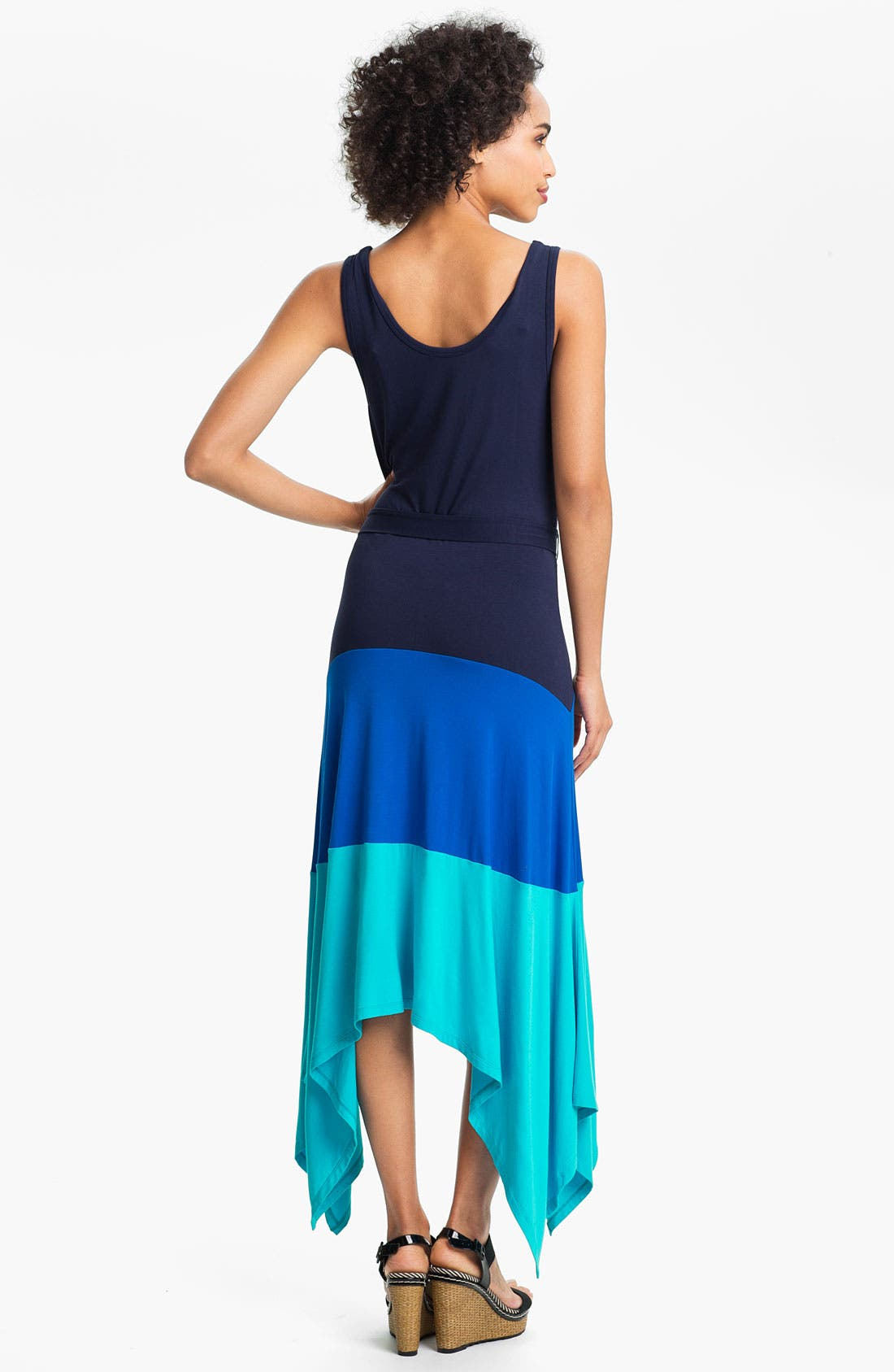Alternate Image 2  - Calvin Klein Colorblock High/Low Jersey Maxi Dress