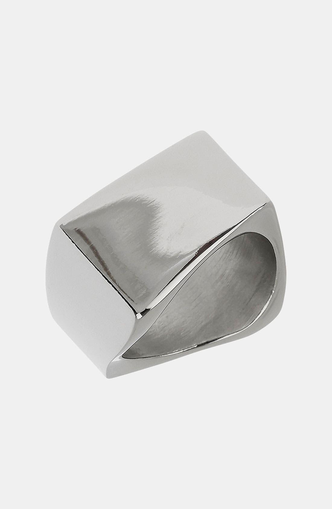 Alternate Image 1 Selected - Topman 'Point Plain' Band Ring