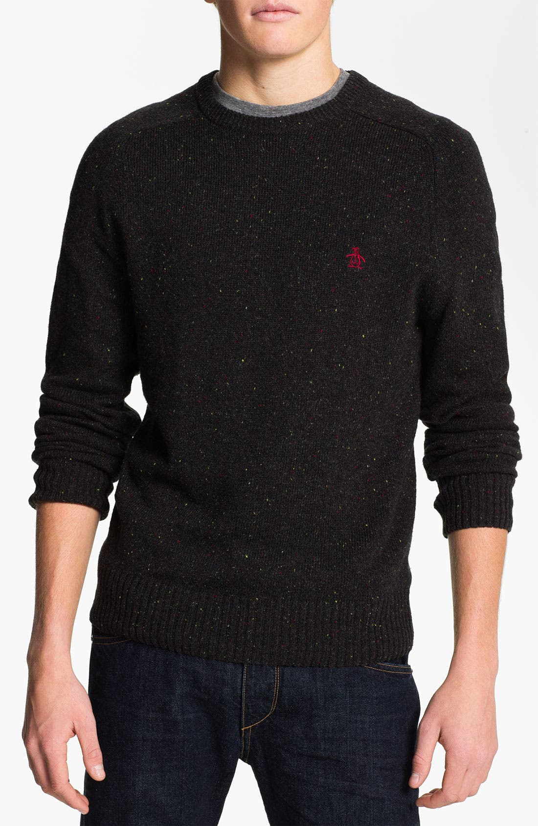 Main Image - Original Penguin Speckled Knit Crewneck Sweater