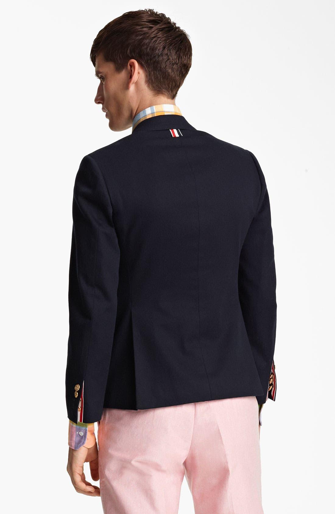 Alternate Image 2  - Thom Browne Classic Three-Button Blazer