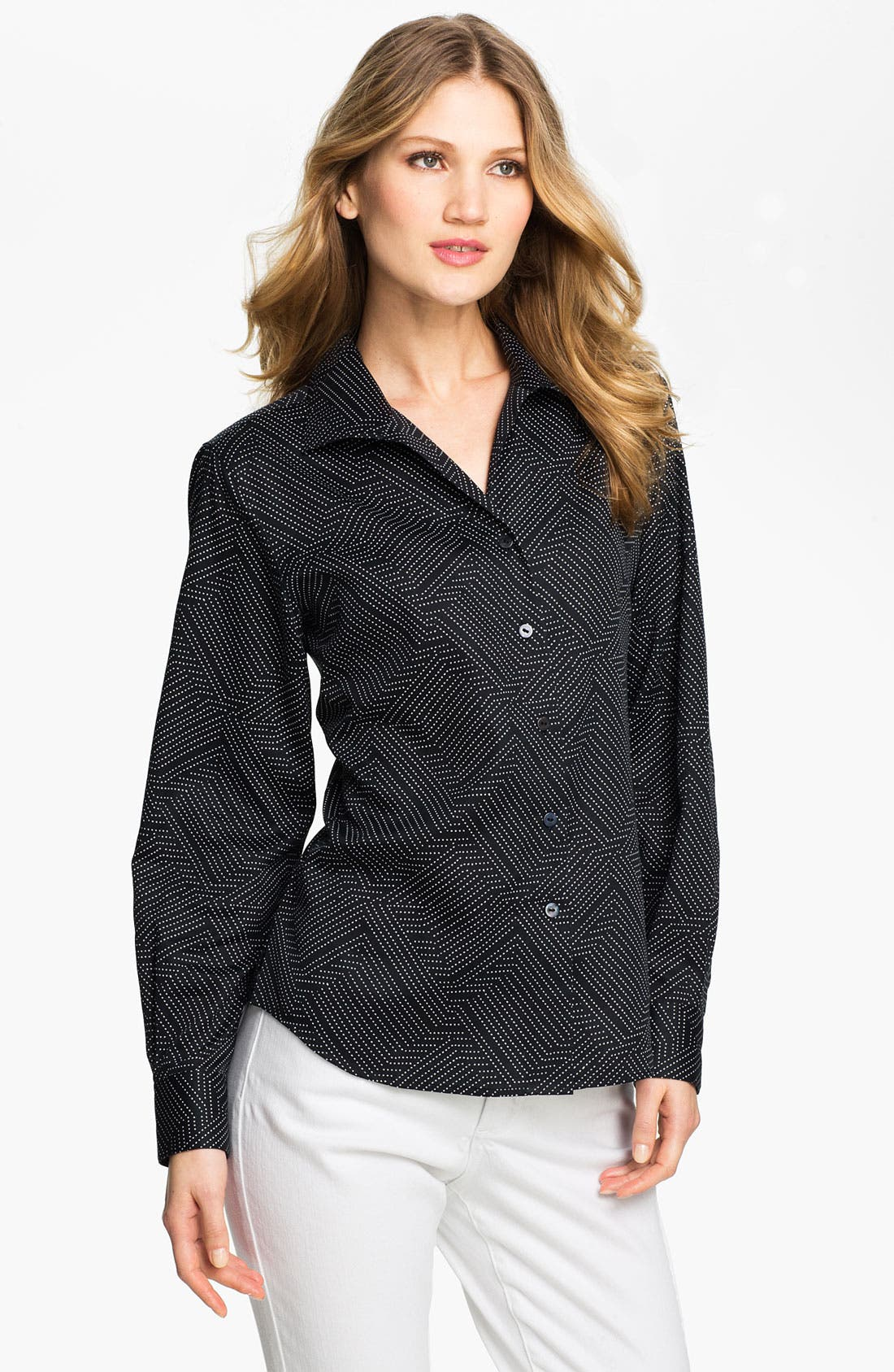 Main Image - Foxcroft Geometric Dot Shirt