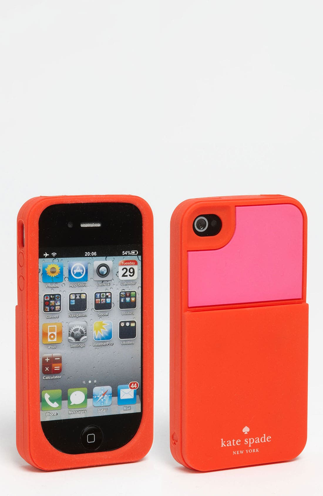 Alternate Image 1 Selected - kate spade new york 'color block' card holder iPhone 4 & 4S case