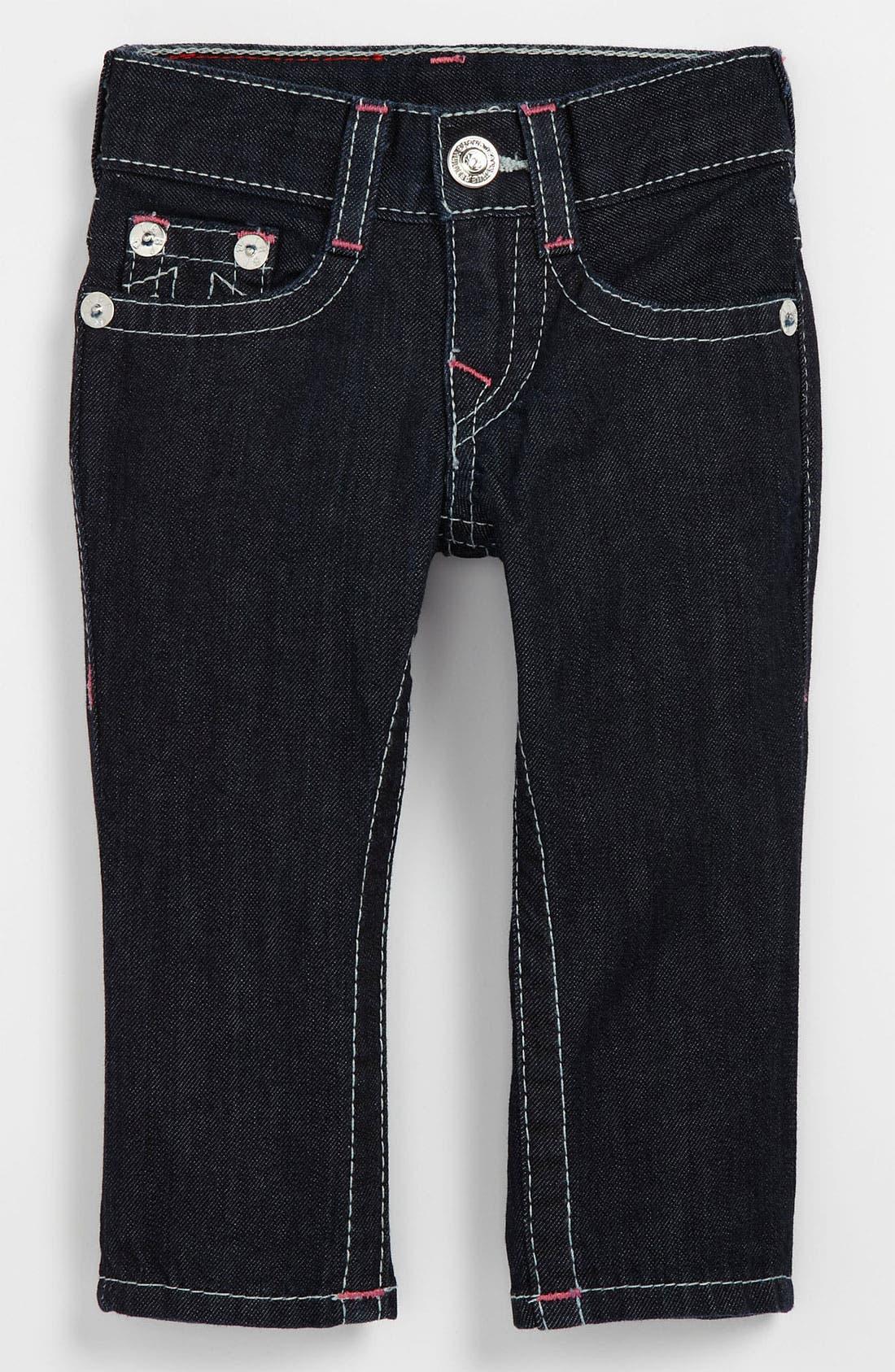 Alternate Image 2  - True Religion Brand Jeans 'Julie' Skinny Leg Jeans (Infant)