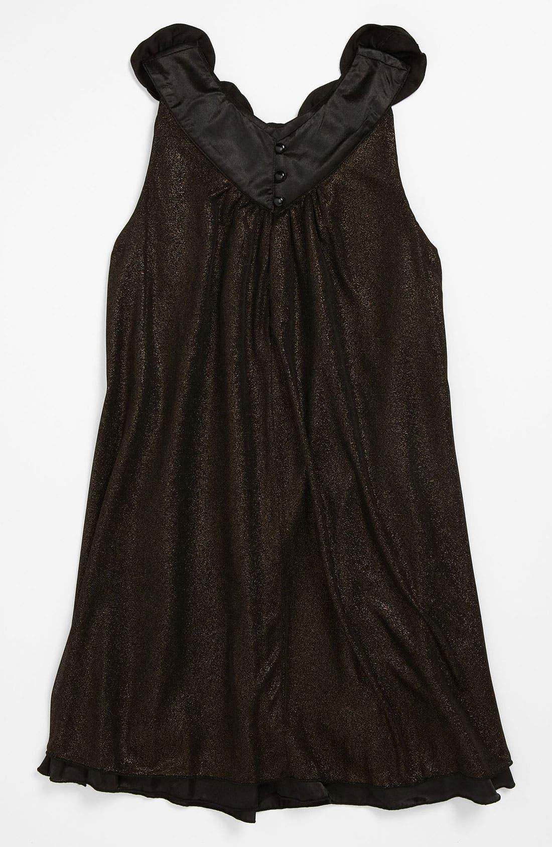 Alternate Image 2  - Laundry by Shelli Segal 'Diana' Glitter Dress (Big Girls)
