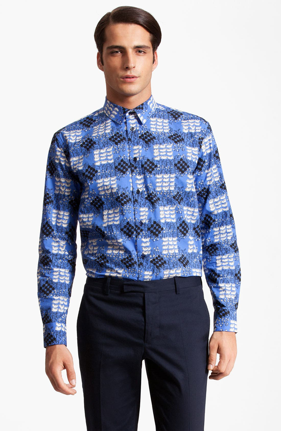 Main Image - Marni 'Quacking Ducks' Cotton Poplin Shirt
