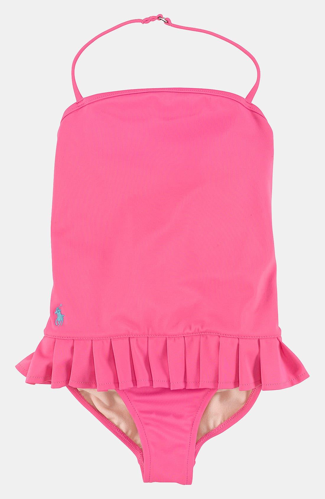 Main Image - Ralph Lauren One Piece Swimsuit (Toddler)