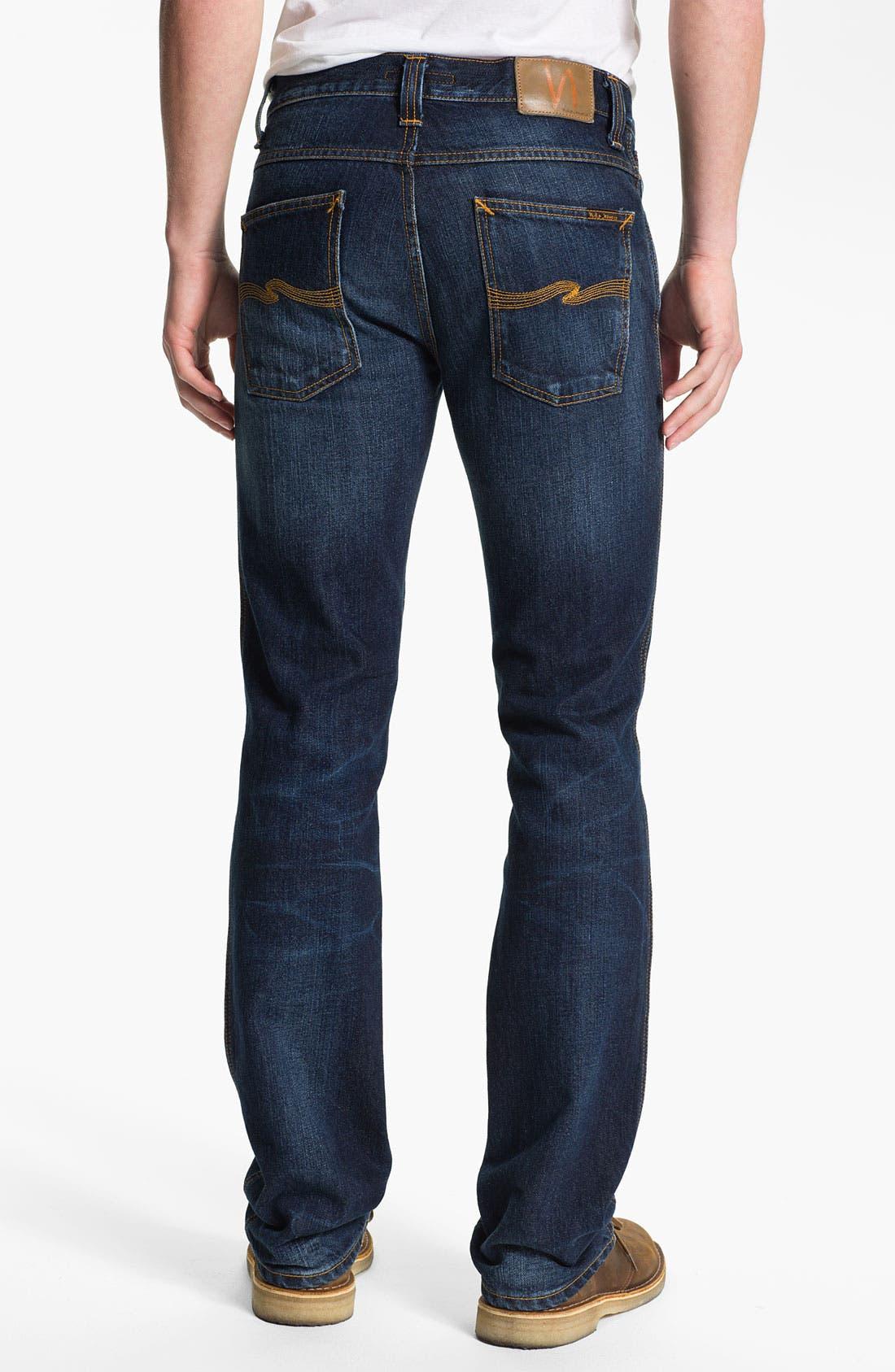 Alternate Image 1 Selected - Nudie 'Slim Jim' Slim Straight Leg Jeans (Organic Blue Note)