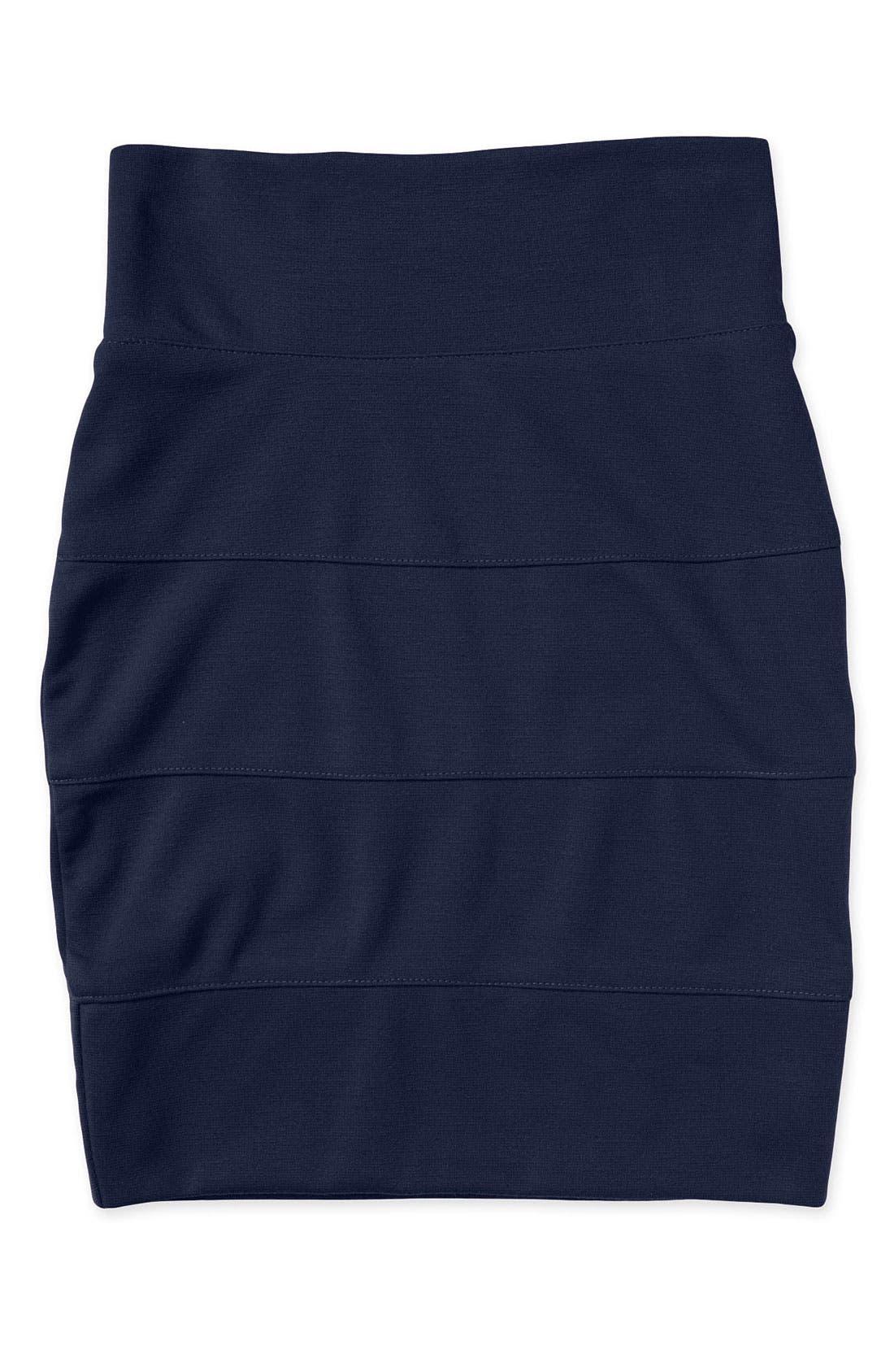 Main Image - Un Deux Trois Knit Banded Miniskirt (Big Girls)