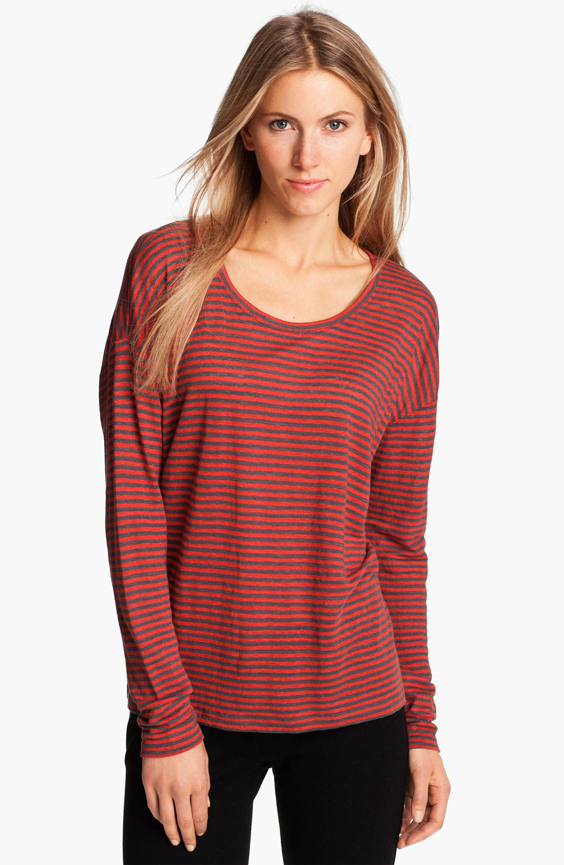Alternate Image 1 Selected - Eileen Fisher Stripe Linen Jersey Top