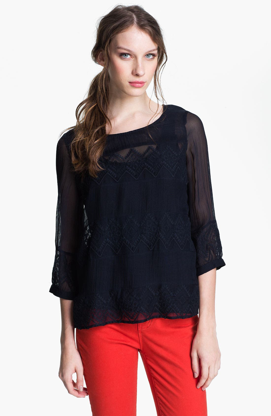 Alternate Image 1 Selected - Lucky Brand 'Empress' Blouse