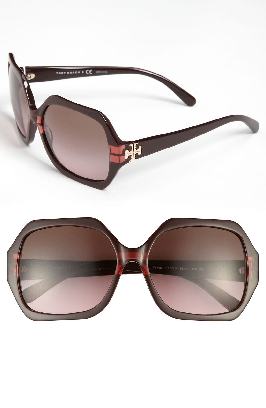 Alternate Image 1 Selected - Tory Burch 58mm Sunglasses