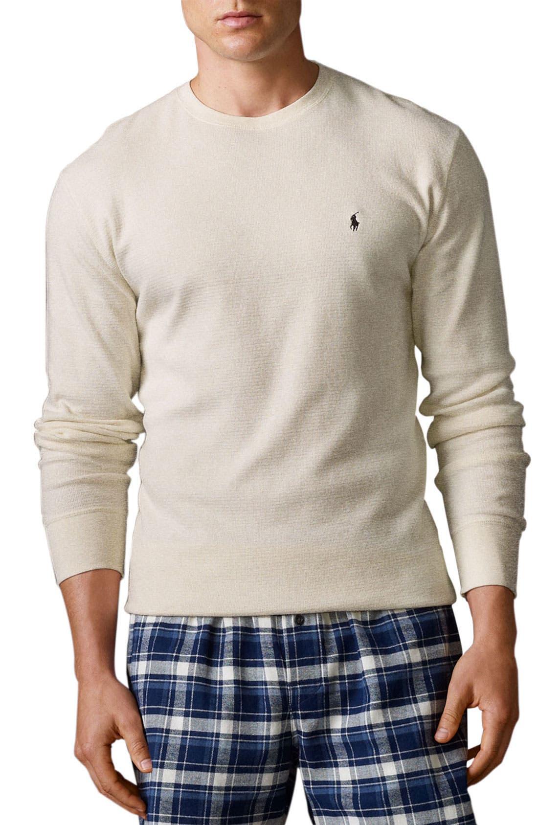 Alternate Image 1 Selected - Polo Ralph Lauren Thermal Crewneck Lounge Shirt