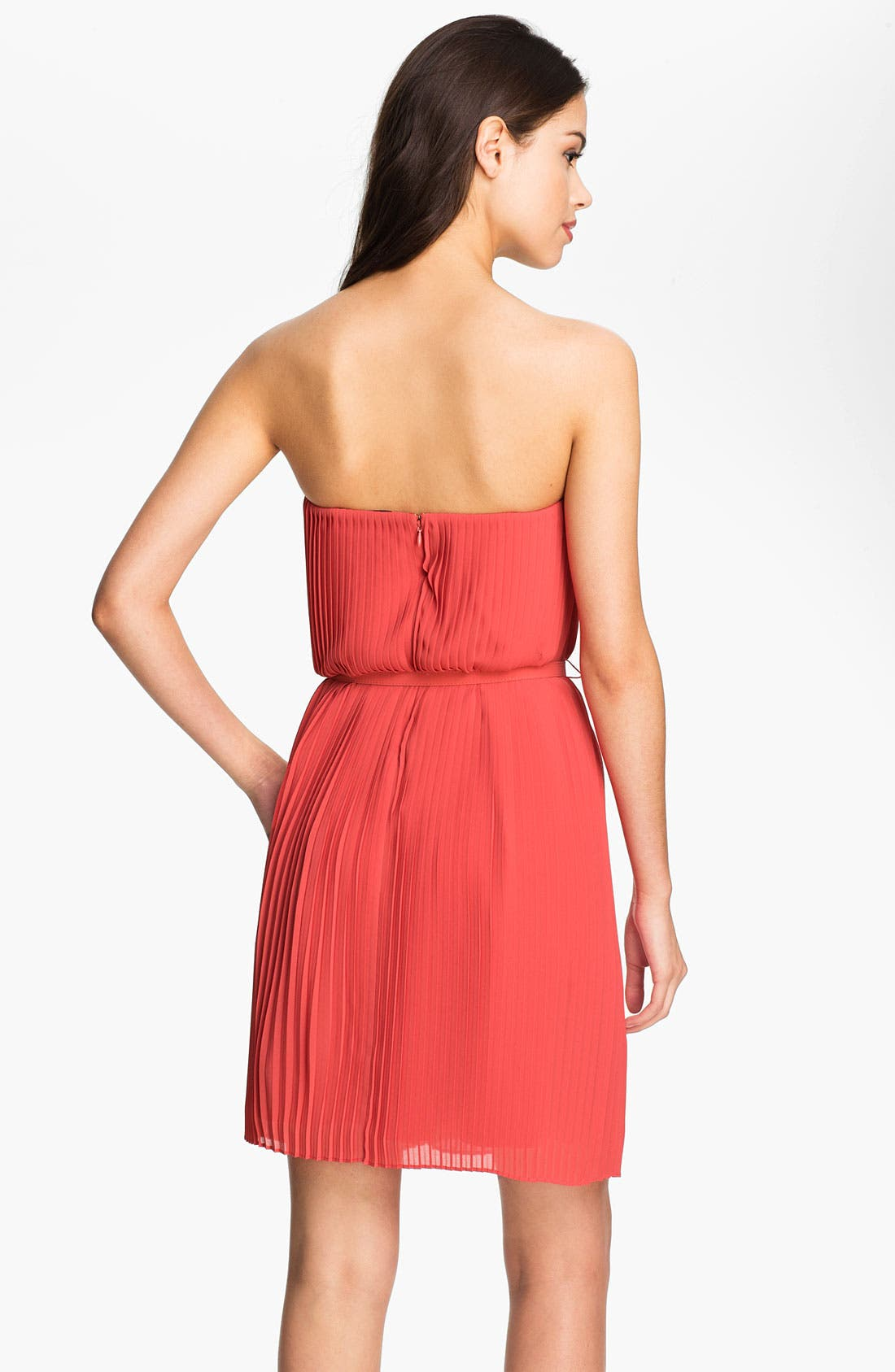 Alternate Image 2  - Felicity & Coco Strapless Pleated Chiffon Dress (Nordstrom Exclusive)