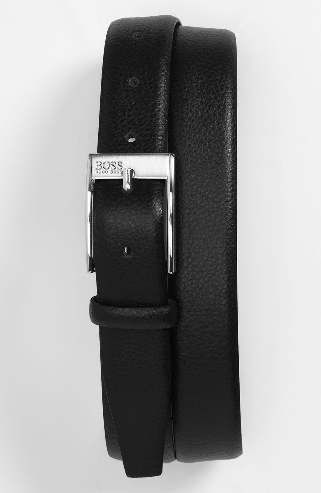 Alternate Image 1 Selected - BOSS HUGO BOSS 'Eston' Leather Belt