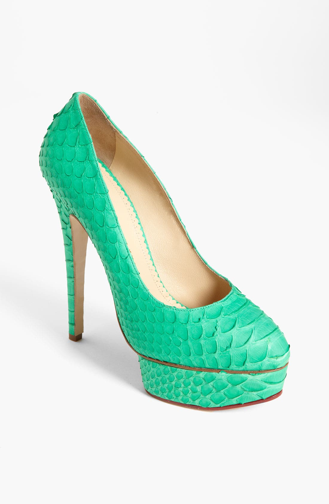 Alternate Image 1 Selected - Charlotte Olympia 'Priscilla' Genuine Python Pump