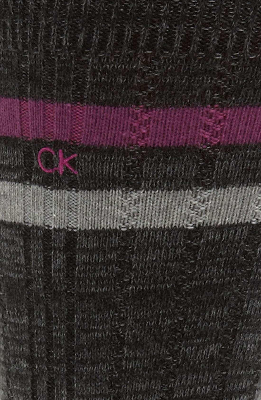 Alternate Image 2  - Calvin Klein Stripe Socks