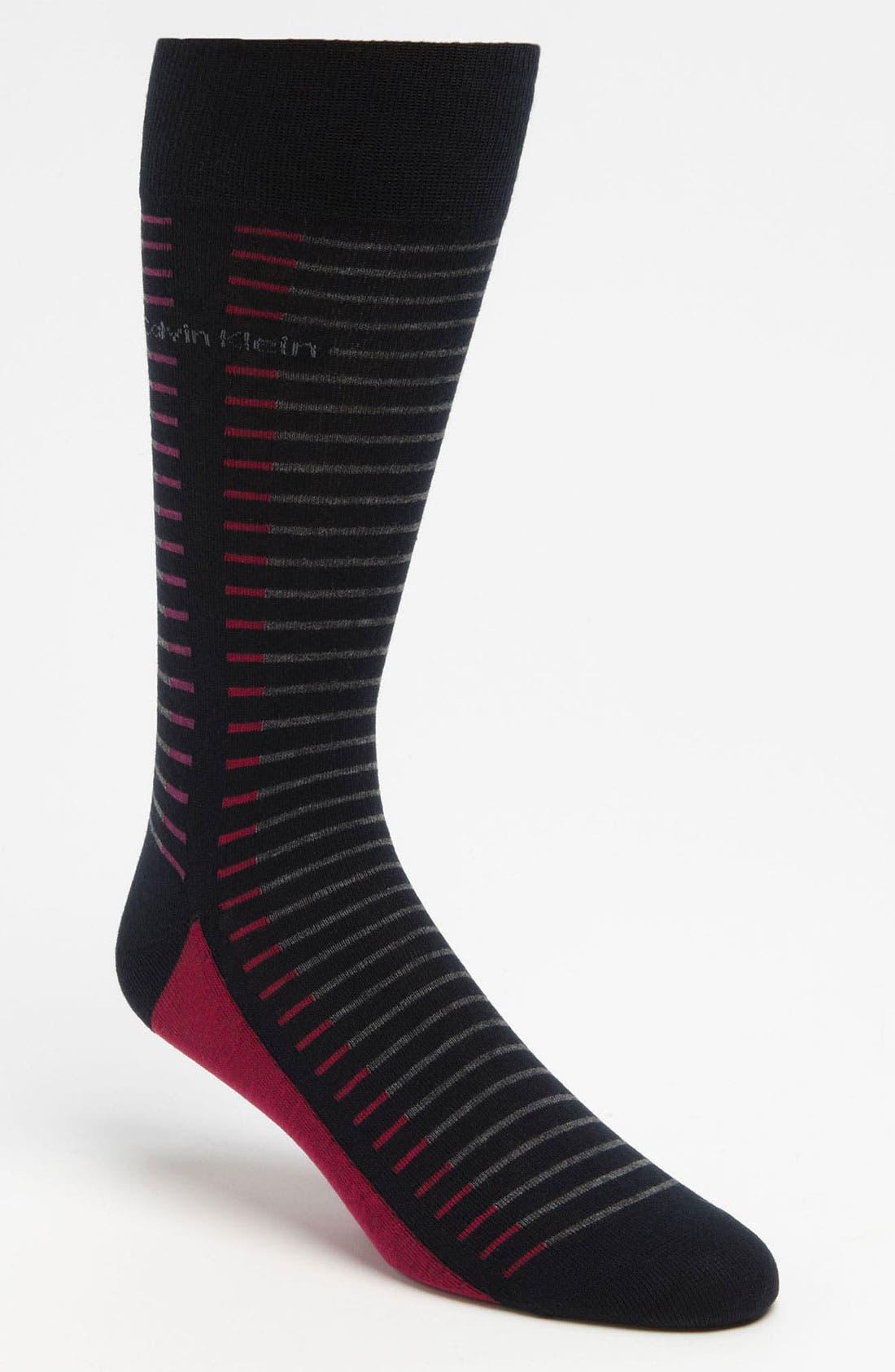 Alternate Image 1 Selected - Calvin Klein 'Broken Stripe' Socks
