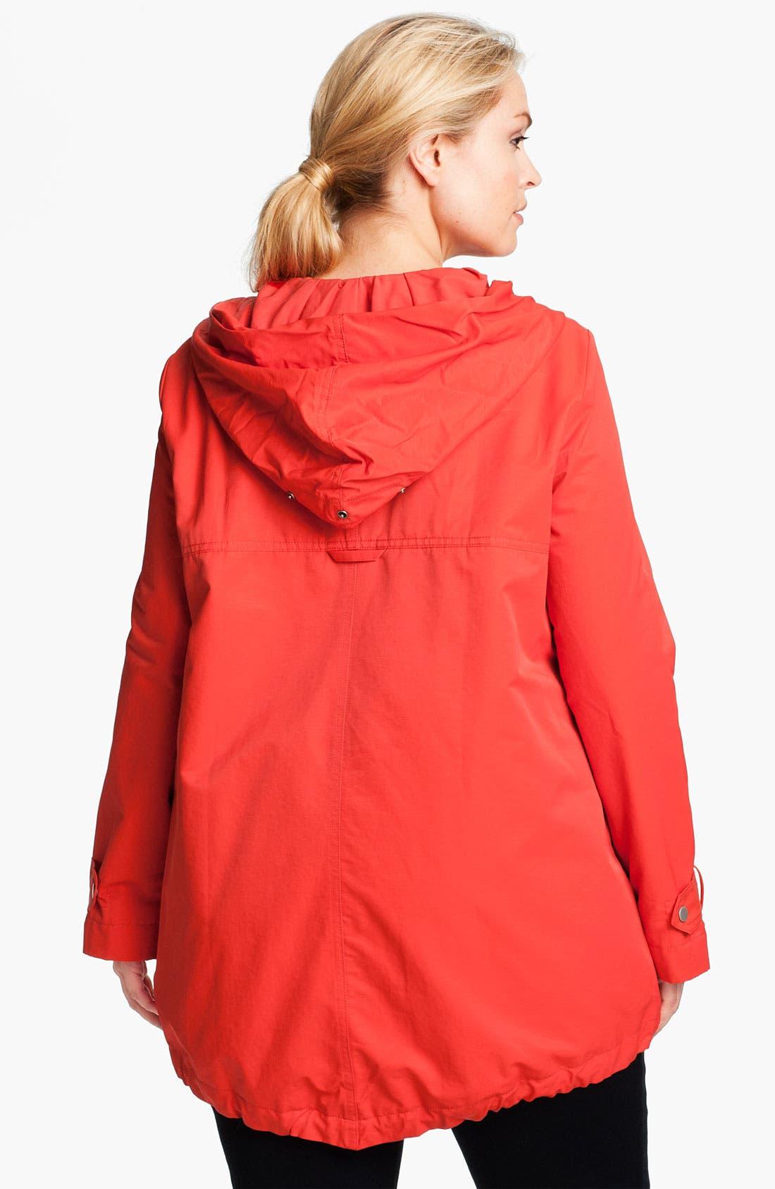 Alternate Image 2  - Eileen Fisher Hooded Jacket (Plus)