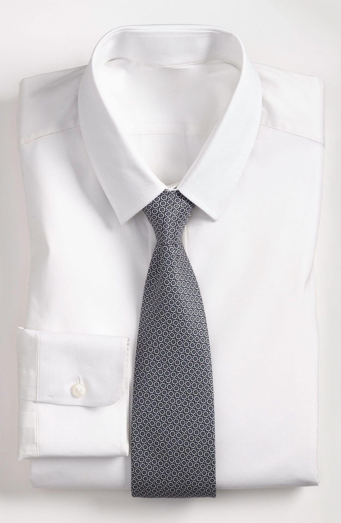 Alternate Image 3  - Yves Saint Laurent Hexagon Pattern Woven Silk Tie