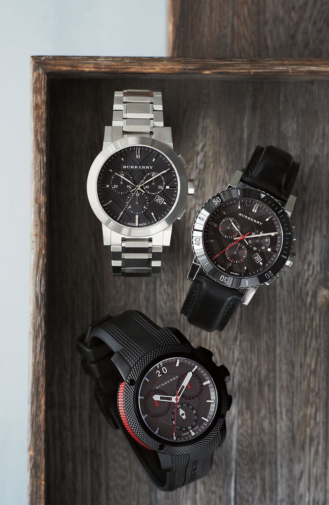 Alternate Image 2  - Burberry Chronograph Rubber Strap Watch