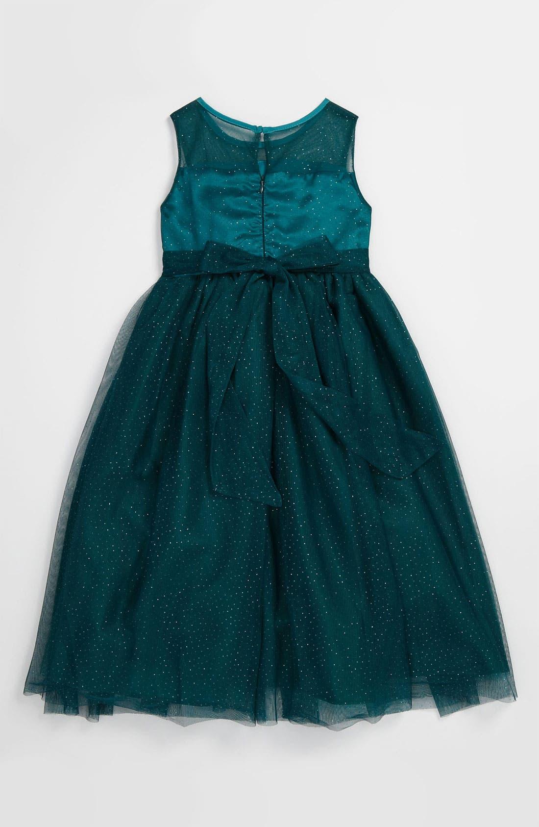 Alternate Image 2  - Dorissa Glitter Mesh Dress (Little Girls)